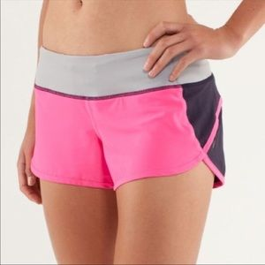 LULULEMON neon pink shorts